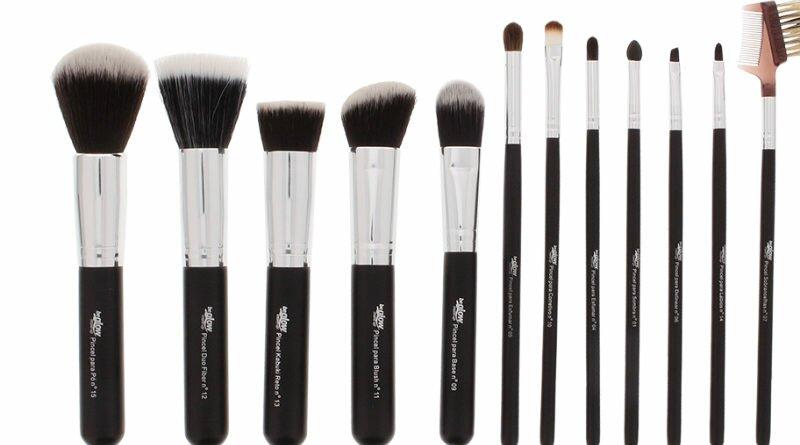 Pincéis PRO da BeGlow MakeUp são 12 modelos - Clube das Comadres