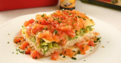 lasanha vegetariana da Castelo Alimentos