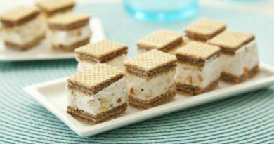 Minitorrones de wafer com marshmallow - Clube das Comadres