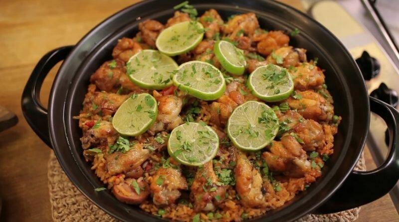 paella de frango-receita-almoço-domingo