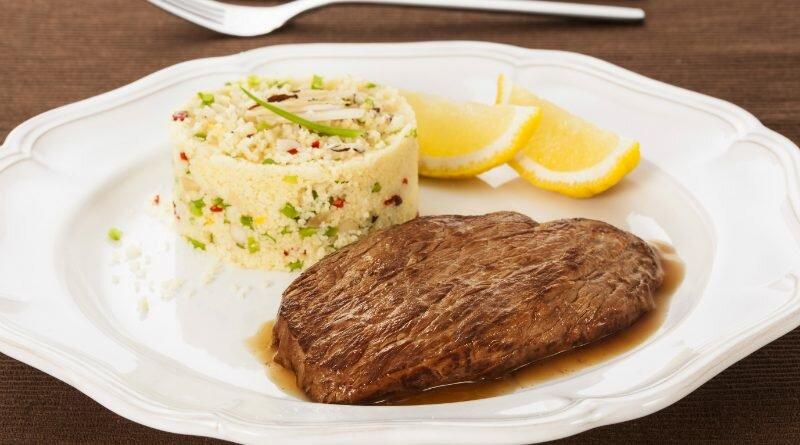 Corte certo da carne-filémignon-cuscuz